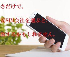 安さだけで格安SIM会社を選ぶと失敗します。